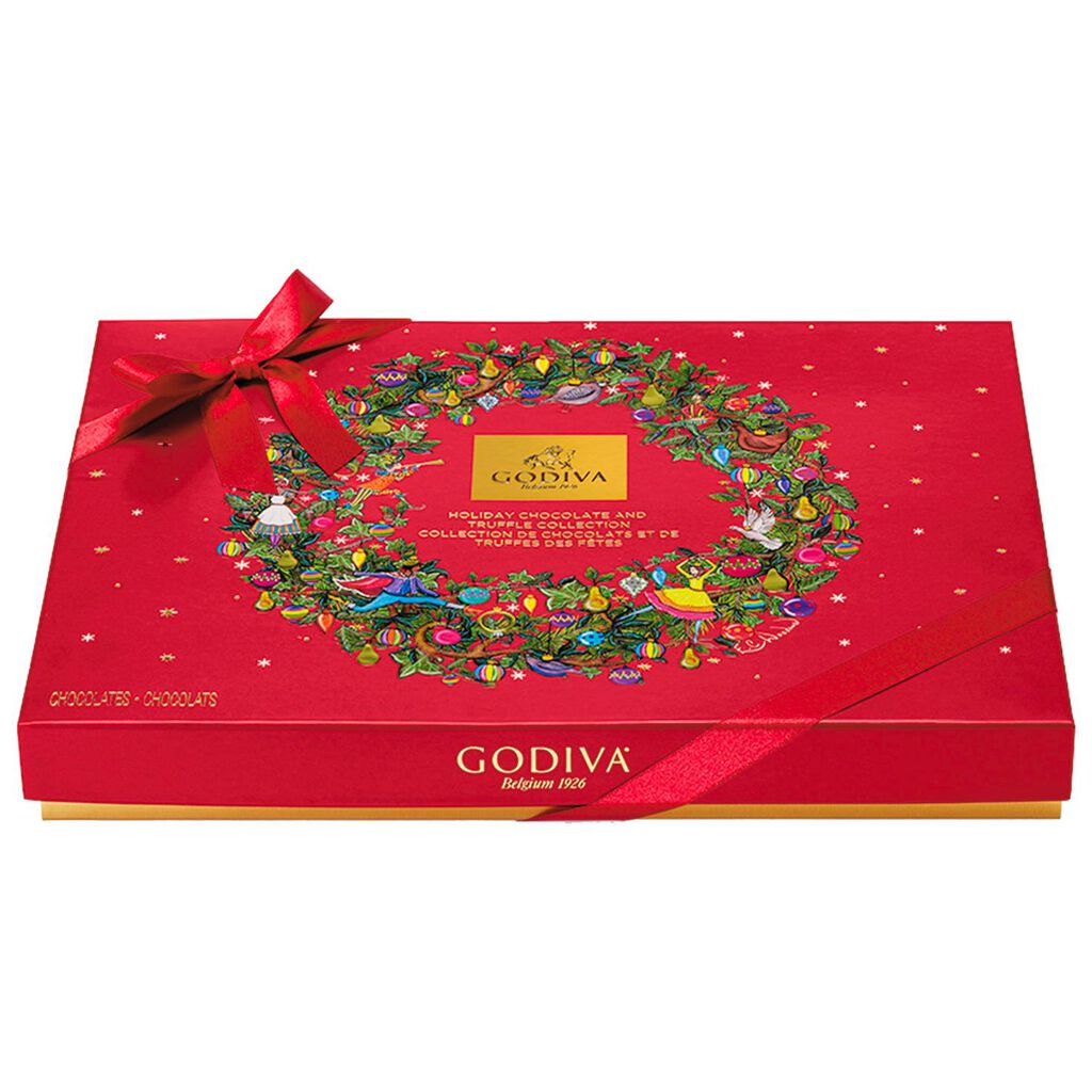 Godiva Assorted Chocolates Christmas Gift Box, 32 Pieces - Candy ...