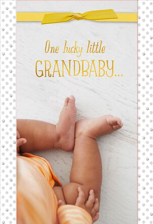 One Lucky Grandbaby New Baby Card