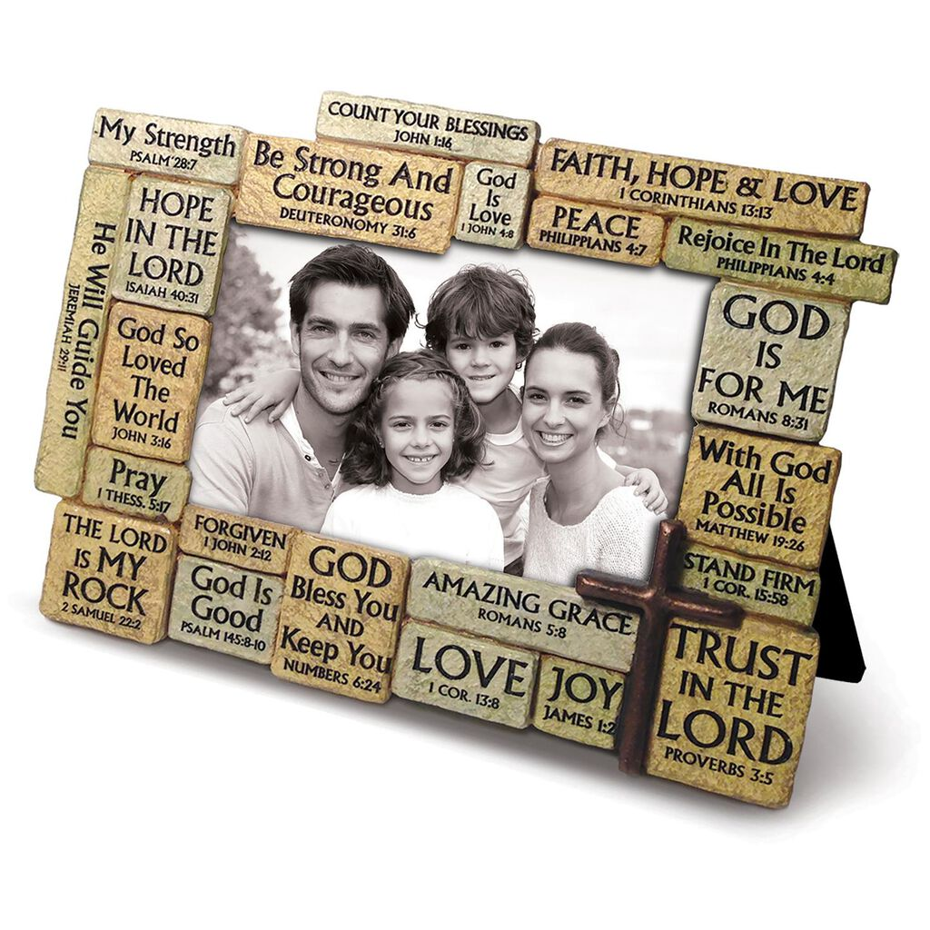 Stacked Stones Bible Verses Picture Frame 4x6 Picture Frames