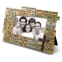 Stacked Stones Bible Verses Picture Frame, 4x6, , large