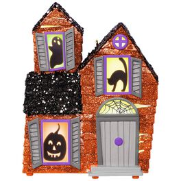 Mysterious Manor Haunted House Halloween Ornament With Light and Sound, , large