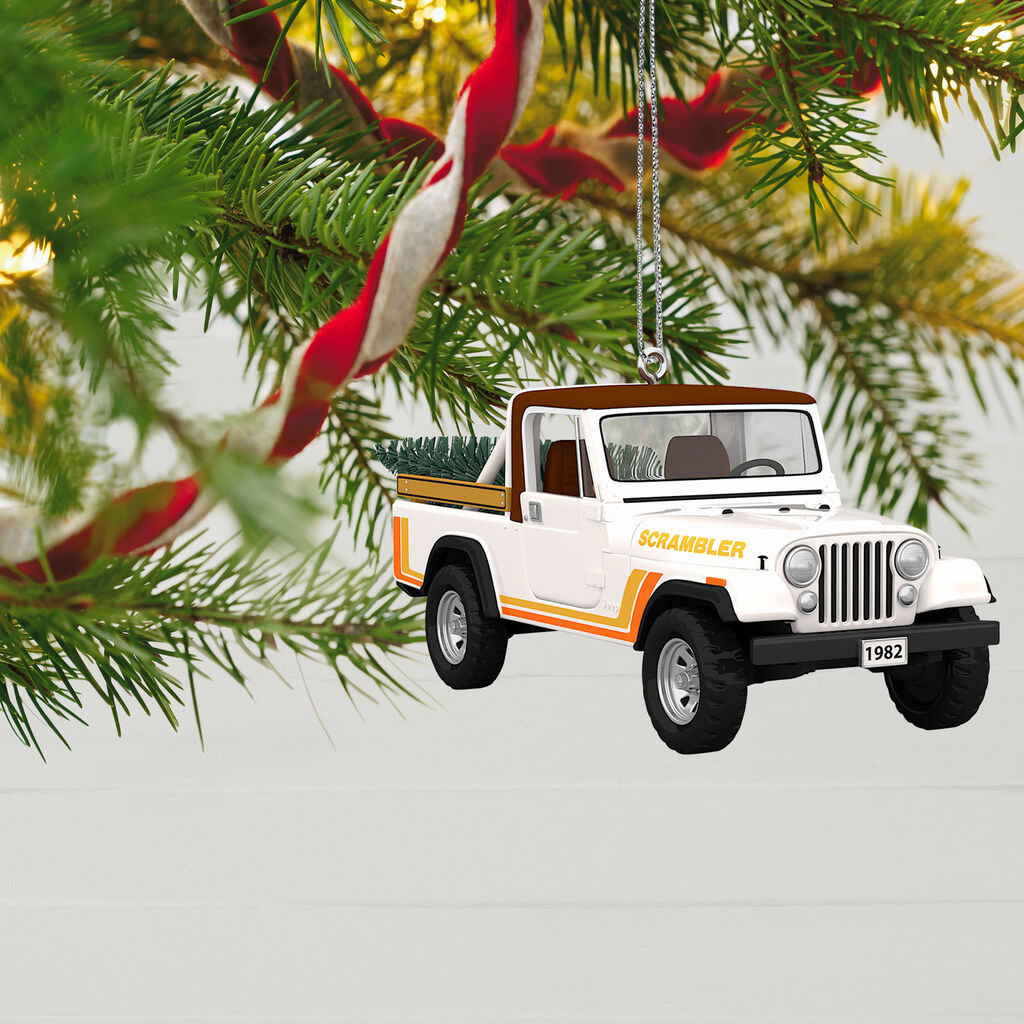 Jeep Christmas Ornament.All American Trucks 1982 Jeep Cj 8 Scrambler Metal Ornament