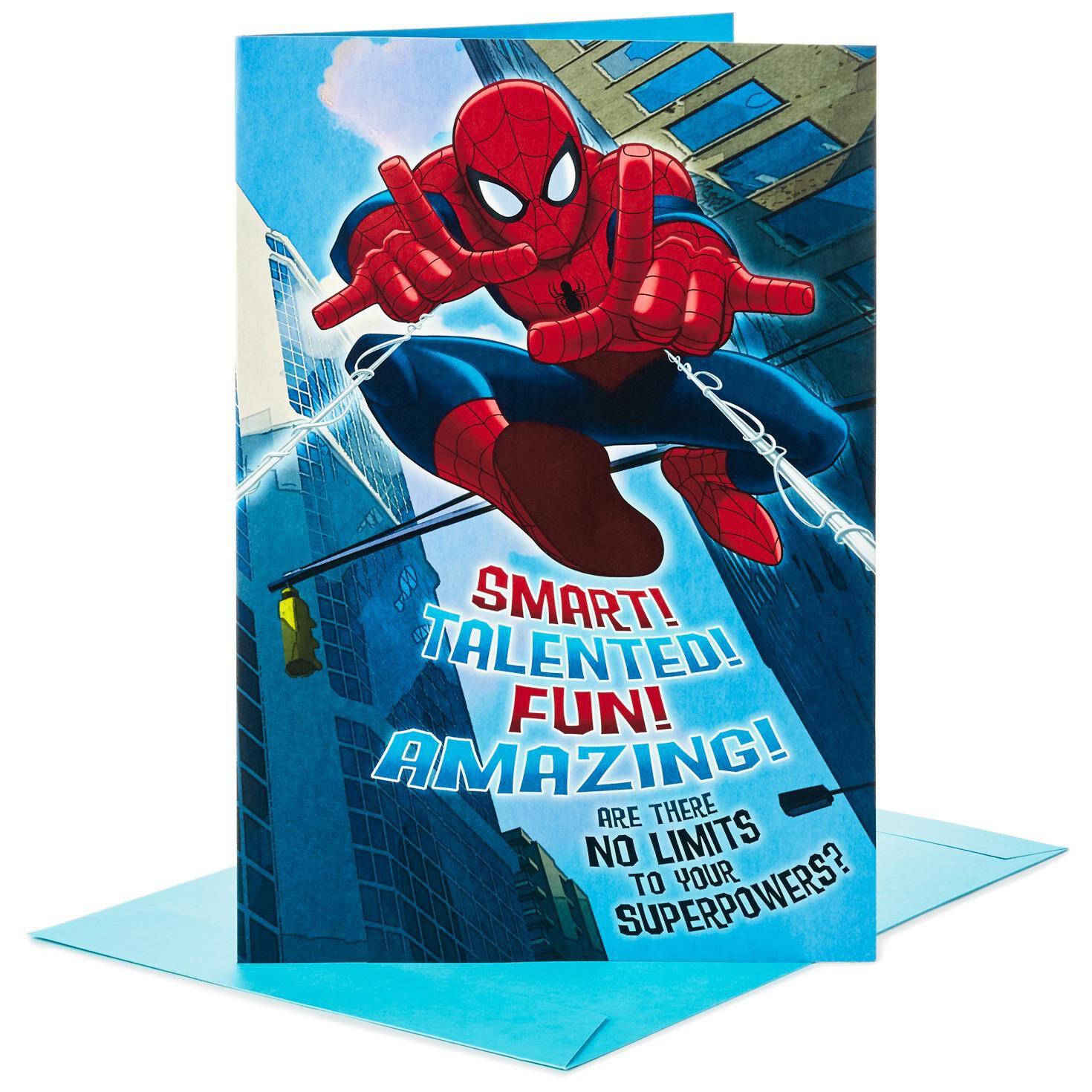 "Spider Man Pop Up Jumbo Birthday Card 16"" Greeting Cards Hallmark"