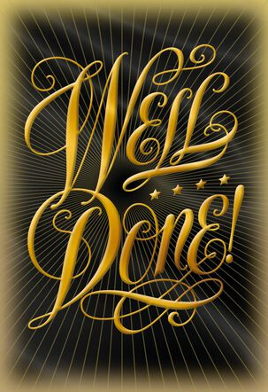 Well Done Blank Congratulations Card