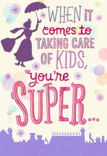 Mary Poppins Practically Perfect in Every Way Mother's Day Card,