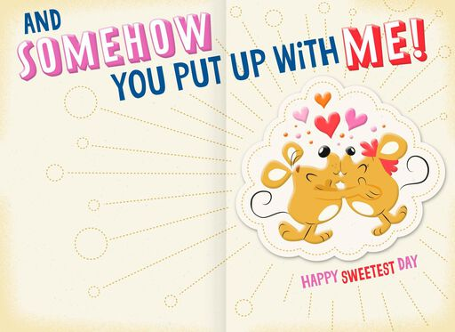 You Put Up With Me Funny Sweetest Day Card for Husband,
