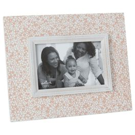 Pink Floral Distressed Wood 4x6 Picture Frame, , large