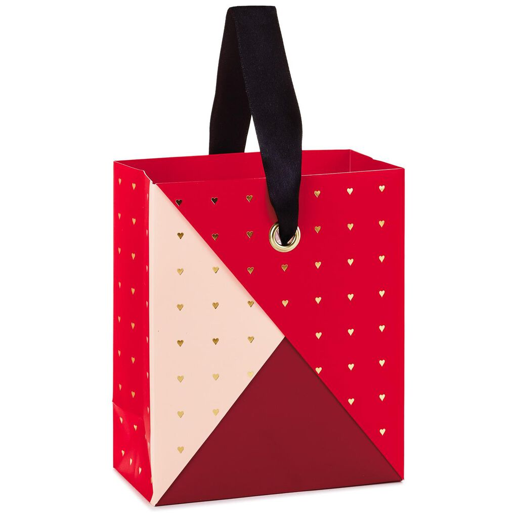 Origami Fold Valentine s Day Small Gift Bag With Hearts 3fbe48d8c17d7