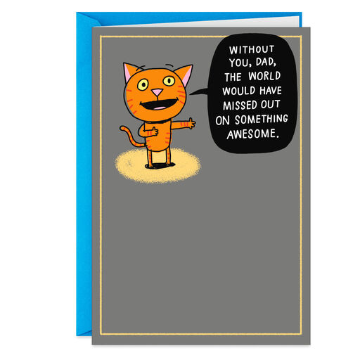 Something Awesome Funny Birthday Card From Kid