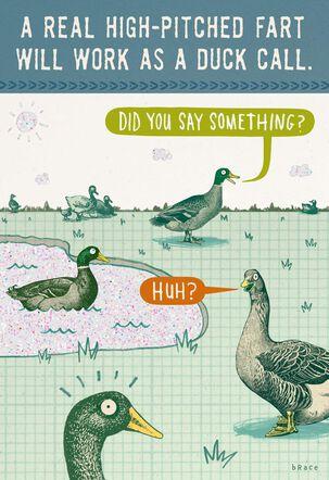 Outdoorsy Birthday Tip Funny Birthday Card