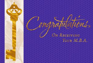 Golden Key M.B.A. Graduation Card