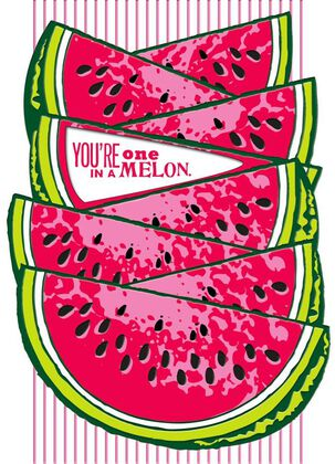 Watermelon Just Because Card