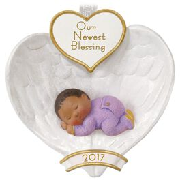 African-American Baby's First Christmas Ornament, , large