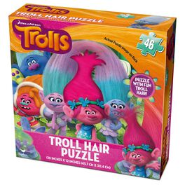 DreamWorks Trolls Specialty Puzzle With Hair, 46 Pieces, , large