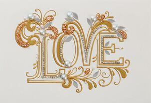 Surrounded By Love Wedding Card
