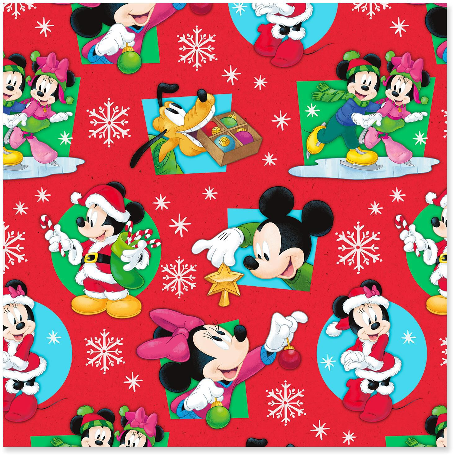 disney mickey and minnie on red christmas wrapping paper roll 30 sq ft wrapping paper hallmark