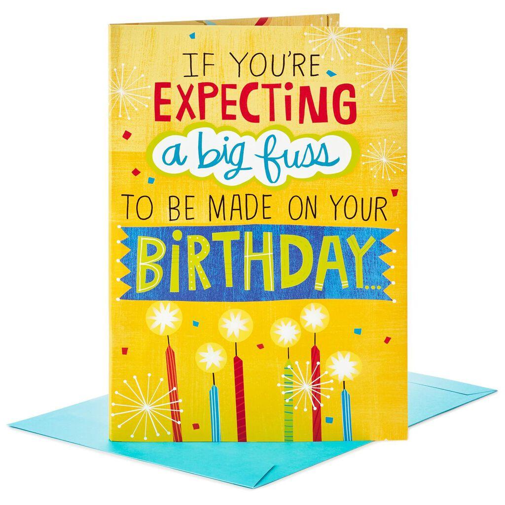 Make A Fuss Cake Decoration Jumbo Birthday Card