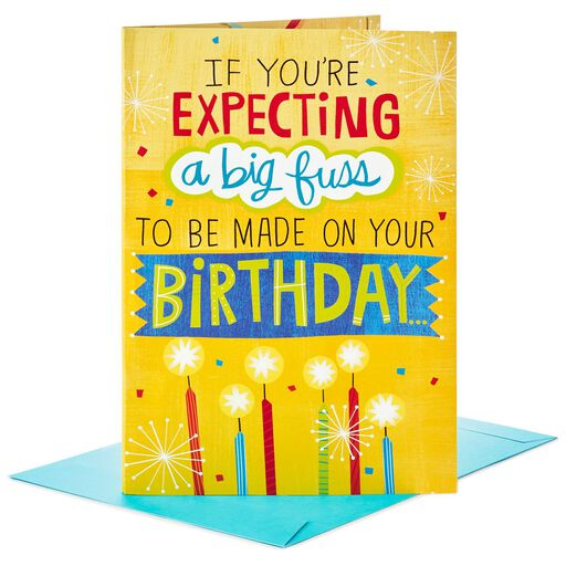 Make A Fuss Cake Decoration Jumbo Birthday Card 16