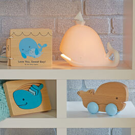 Whale Baby Decor and Wooden Toy Set, , large