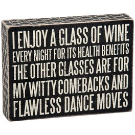 Primitives by Kathy Glass of Wine Box Sign, , large
