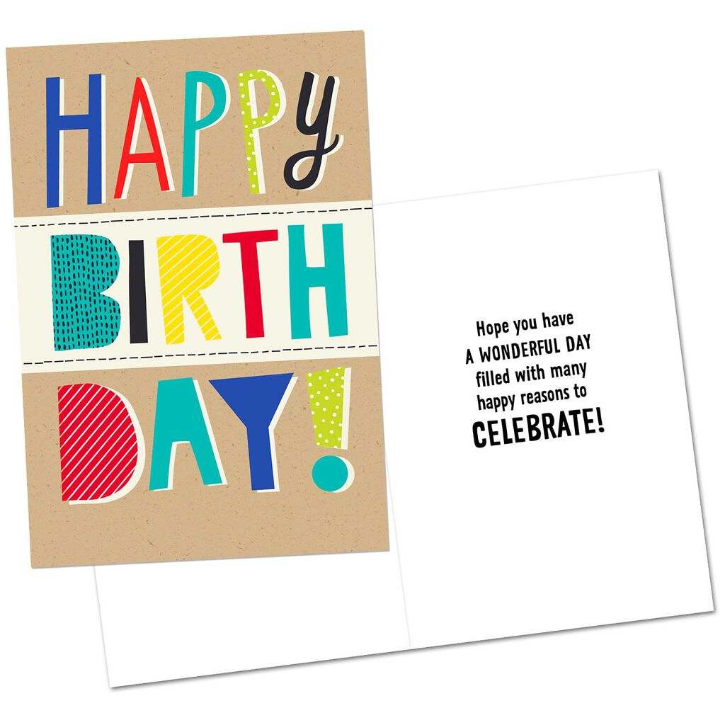 Assorted Colorful Birthday Cards Pack Of 8