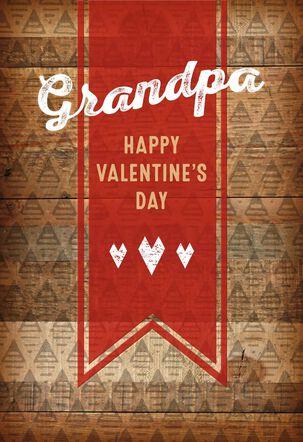 Grandpa Thanks Valentine's Day Card