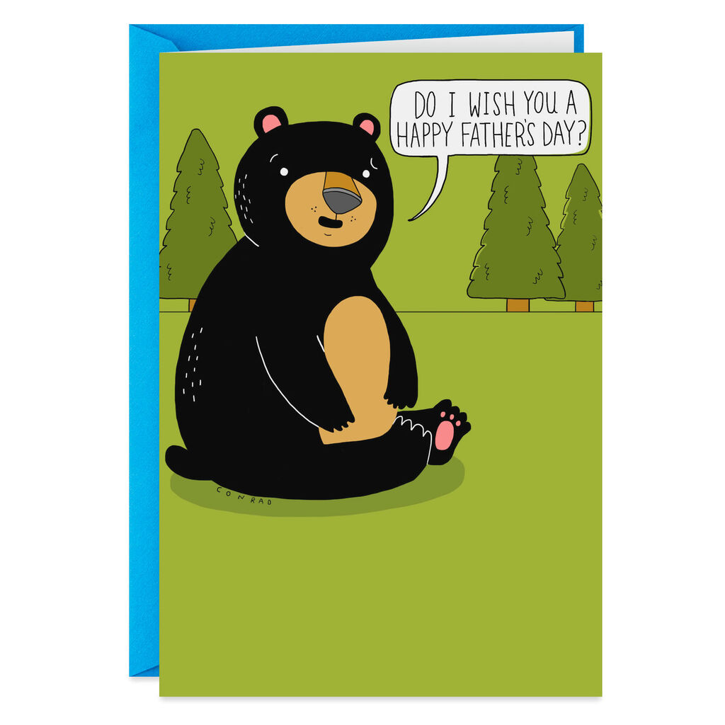 Does a Bear Crap in the Woods Funny Father's Day Card