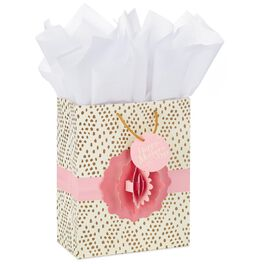 """Pop-Up Flower Mother's Day Medium Gift Bag With Tissue Paper, 9.5"""", , large"""