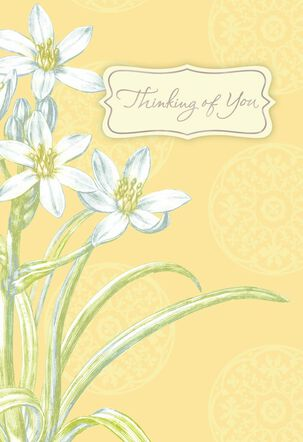 Flowers and Medallions Sympathy Card