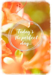 Perfect Day for Happy Thoughts Thinking of You Card,