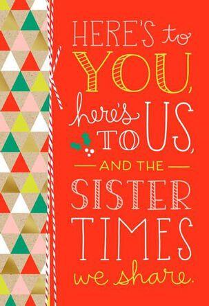 Sister Times Cheers Christmas Card