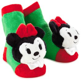 Minnie Mouse Christmas itty bittys® Baby Rattle Socks, , large