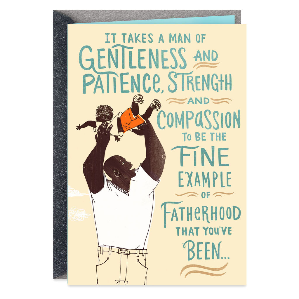 Man Of Gentleness And Strength Birthday Card For Him