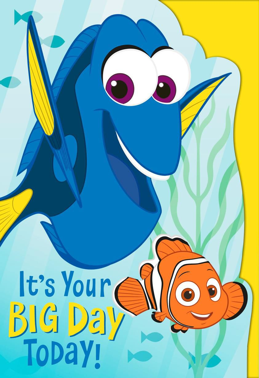 Disney Gifts Christmas Ornaments Greeting Cards – Finding Nemo Birthday Cards
