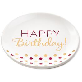 Confetti Dots Happy Birthday Plate, , large