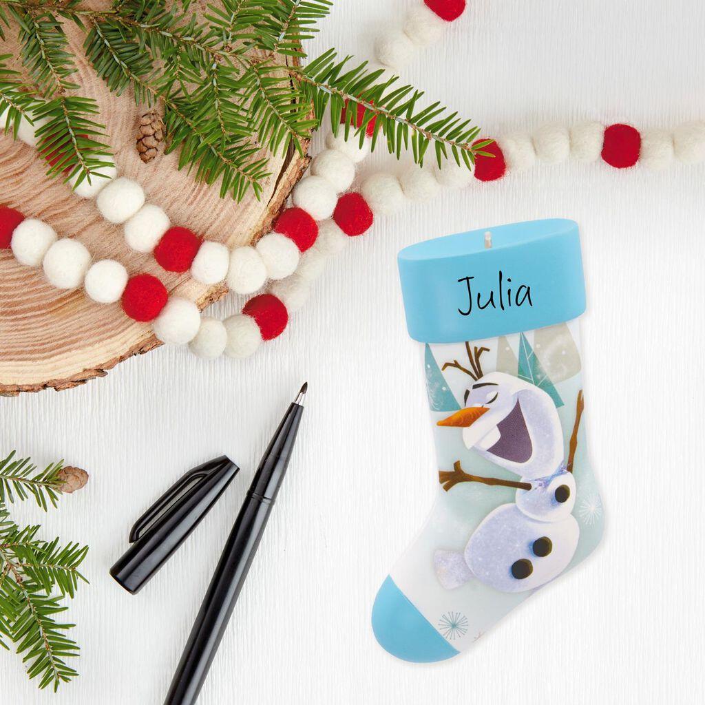 Disney Frozen Olaf Stocking Blank DIY Personalization Hallmark ...