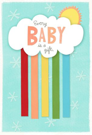 Color Your World New Baby Card