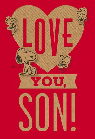 Peanuts® Happy Heart Day Valentine's Day Card for Son