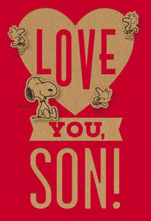 Peanuts® Happy Heart Day Valentine's Day Card for Son,