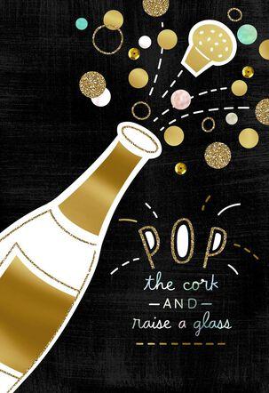 Pop the Cork Congratulations Card