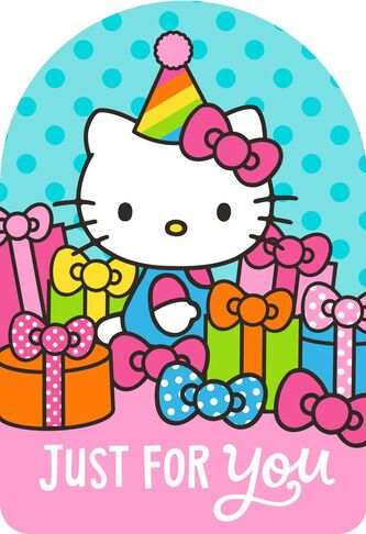 Hello kitty just for you birthday card greeting cards hallmark hello kitty just for you birthday card m4hsunfo Images