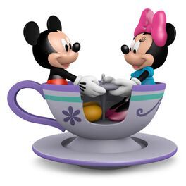 Teacup for Two Mickey and Minnie Mouse Ornament, , large
