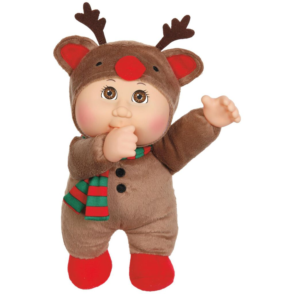 "cabbage patch kids reindeer holiday helper cuties doll, 9"" - dolls"