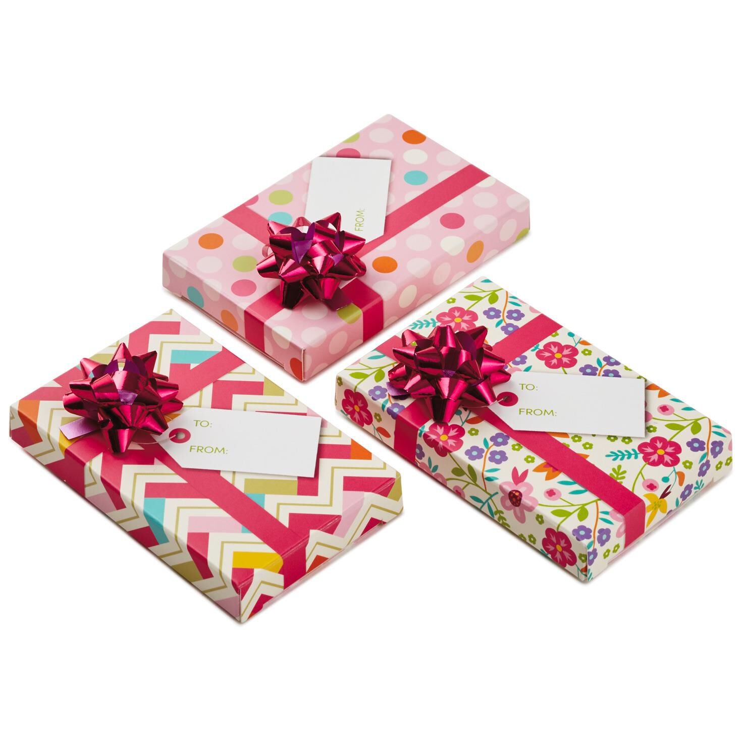 Assorted Pink Gift Card Holder Boxes With Bows, Pack of 3 - Gift ...