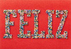 Feliz Sprinkles Spanish Language Birthday Card