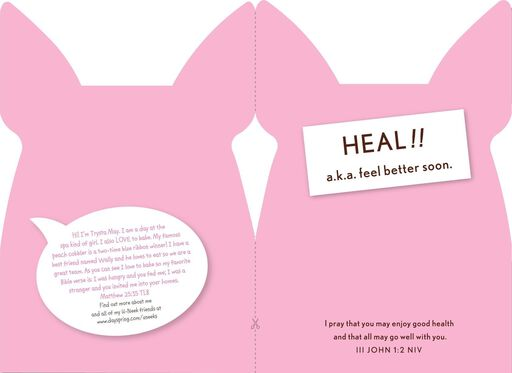 Heal! Dog Get Well Soon Religious Card,