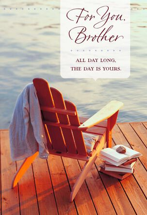 Adirondack Chair Birthday Card for Brother