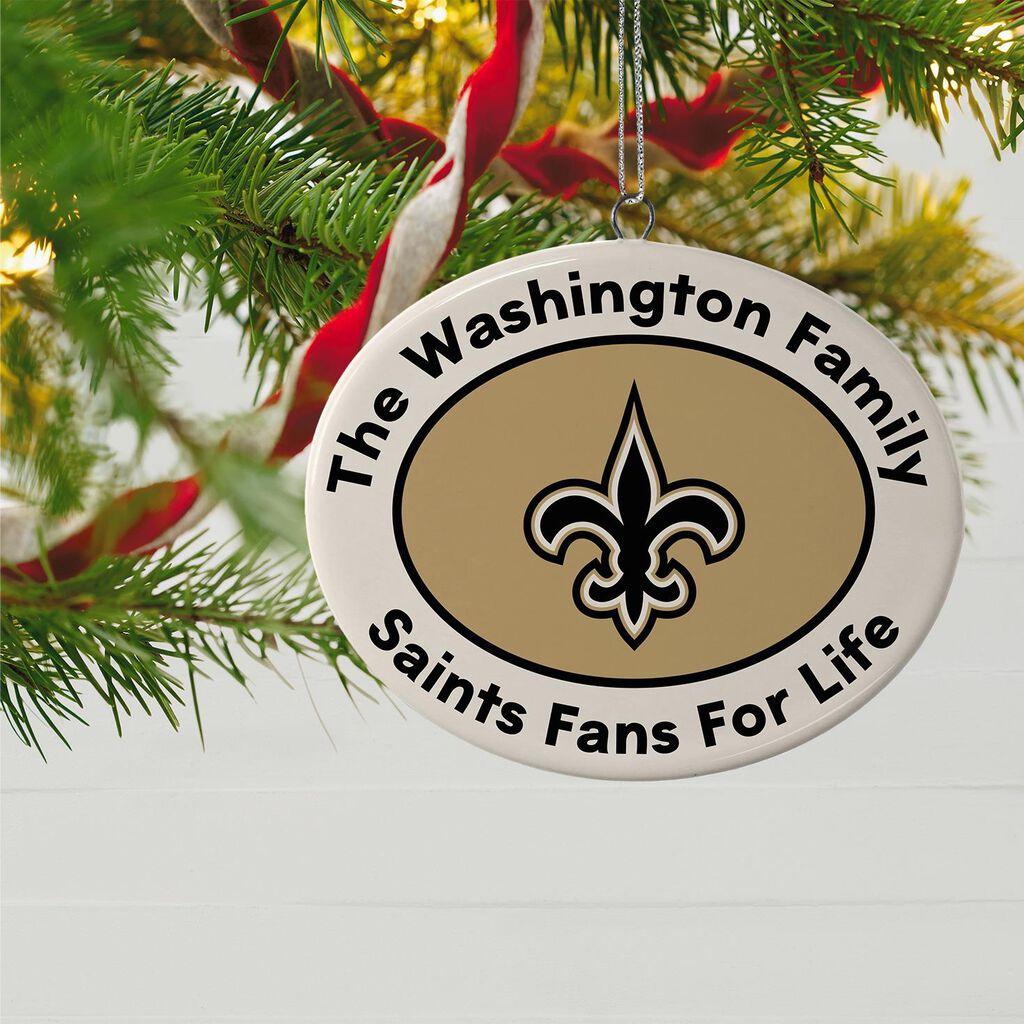 New Orleans Saints Christmas Ornaments.Nfl Football New Orleans Saints Ceramic Personalized Ornament