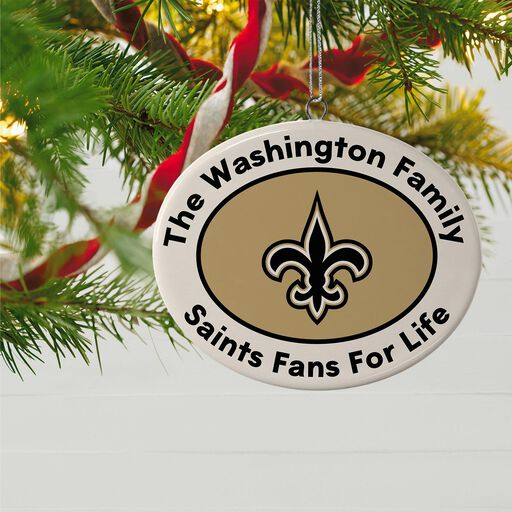 6aed2f9dfcf12 ... NFL Football New Orleans Saints Ceramic Personalized Ornament