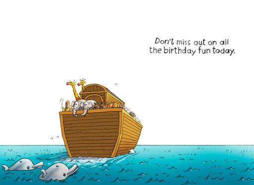 Noah's Ark's Missing Unicorns Funny Birthday Card,
